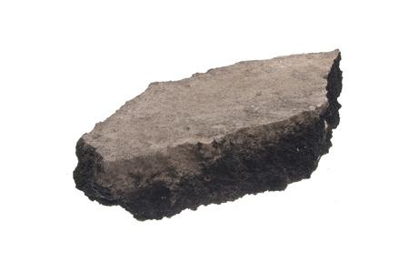asphalt isolated on white background