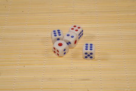 dice isolated on white background Stock Photo