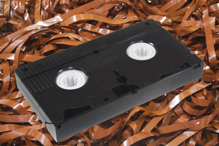 cassette tape isolated on white background Stock Photo