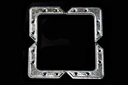 metal mounting bracket isolated on black background