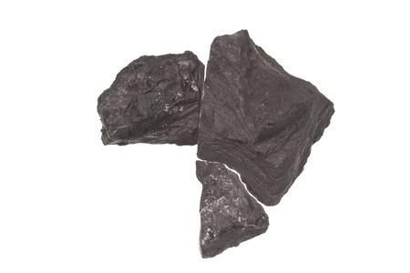 coal isolated on white background Imagens