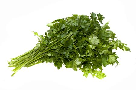 parsley isolated on white background Banco de Imagens