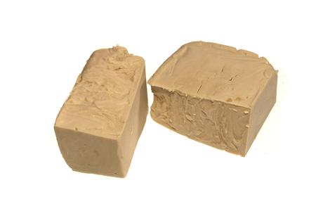 yeast isolated on white background