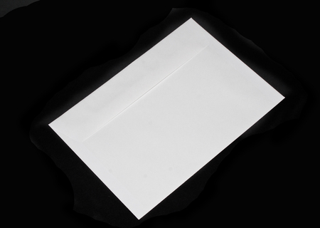 mail envelope isolated on black background Banque d'images
