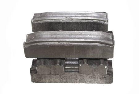 graphite coal isolated on white background Foto de archivo - 125076996