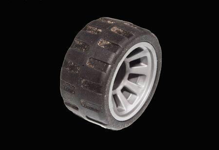 car wheel isolated on white background Foto de archivo - 125077215