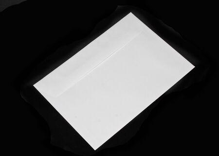 mail envelope isolated on black background Reklamní fotografie
