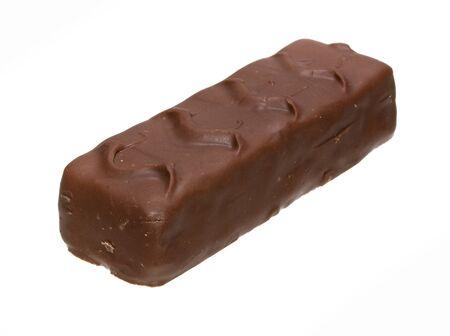 Schokolade lokalisiert auf weißem Hintergrund Standard-Bild