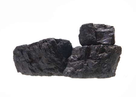 coal isolated on white background 写真素材