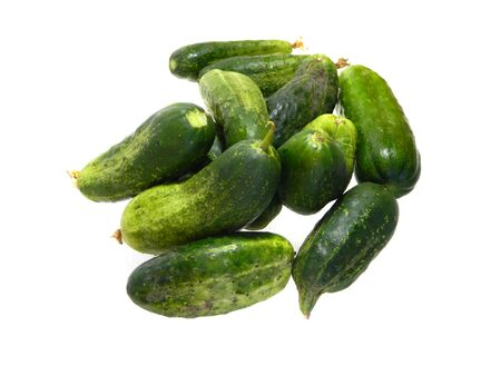 cucumber isolated on white background 写真素材