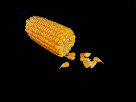 corn isolated on black background