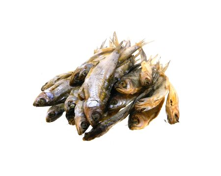 dry fish isolated on white background 写真素材