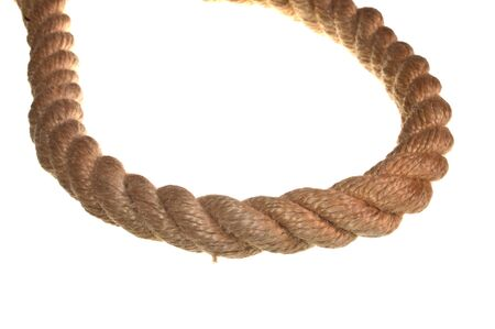 rope isolated on white background Stock Photo