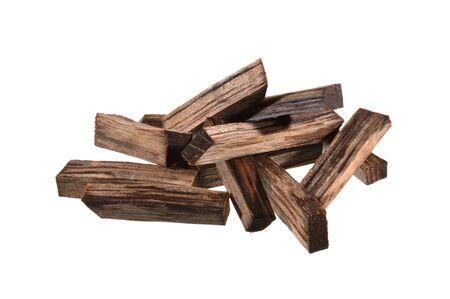 oak firewood isolated on white background Banco de Imagens