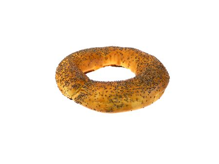 bagel isolated on white background