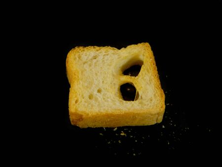 bread isolated on a black background