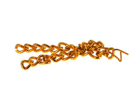 copper chain isolated on white background Banque d'images