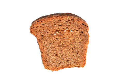 brown bread isolated on white background Archivio Fotografico
