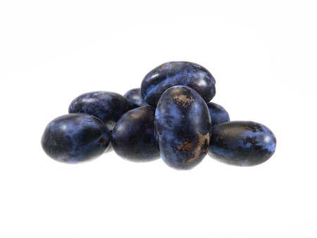 ripe plum isolated on white background