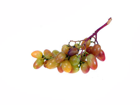 bunch of grapes isolated on white background 写真素材