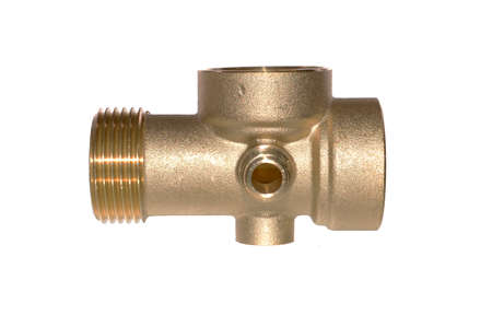 plumbing adapter isolated on white background Standard-Bild