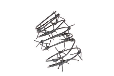 barbed wire isolated on white background Banque d'images