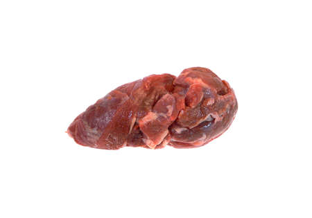 raw meat isolated on white background Banque d'images