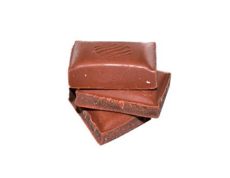 black chocolate isolated on white background