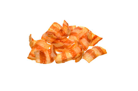 fried chips isolated on white background