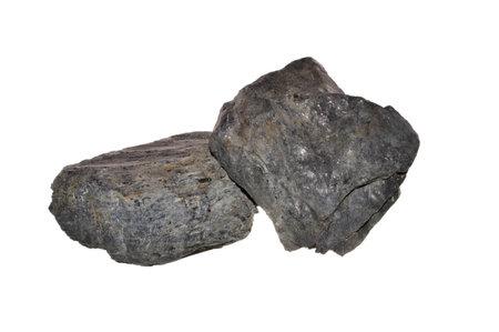 hard coal isolated on white background