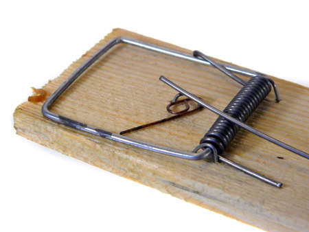 mousetrap isolated on white background Imagens