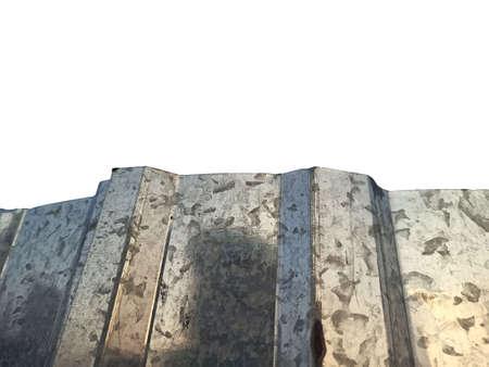 crumpled metal shot - close-up Imagens - 166868324