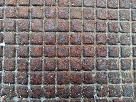 rusty metal photographed - close-up