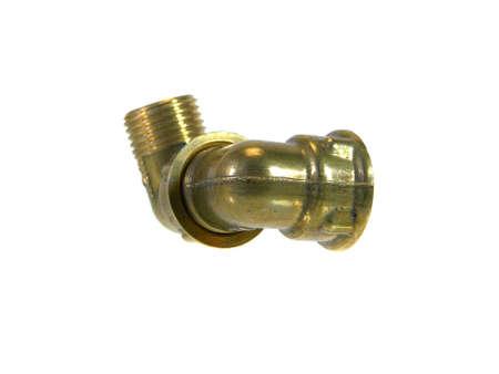 threaded pipe isolated on white background 版權商用圖片