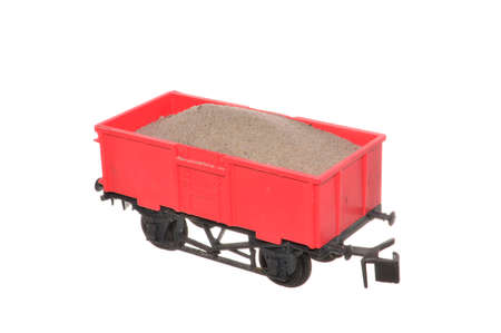 children's toy carriage isolated on white background 版權商用圖片