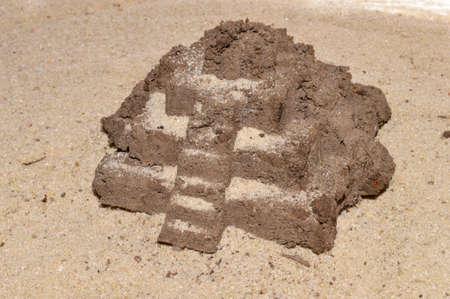 sand isolated on white background