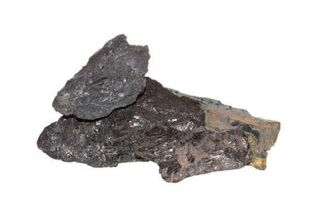 coal isolated on white background 版權商用圖片
