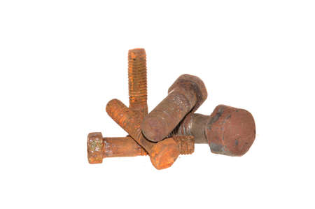 rusty bolt isolated on white background