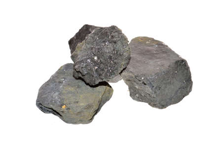 coal isolated on white background 免版税图像