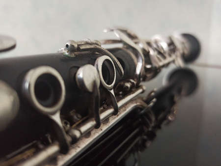 wind musical instrument photographed - close-up