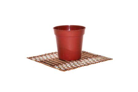 flower mat isolated on white background 免版税图像