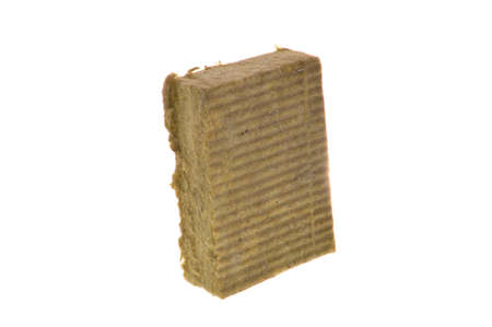 glass wool isolated on white background 免版税图像