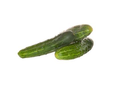cucumber isolated on white background 免版税图像