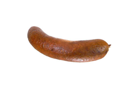 sausage isolated on white background 免版税图像