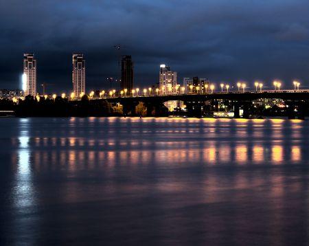 Kiev at night 版權商用圖片