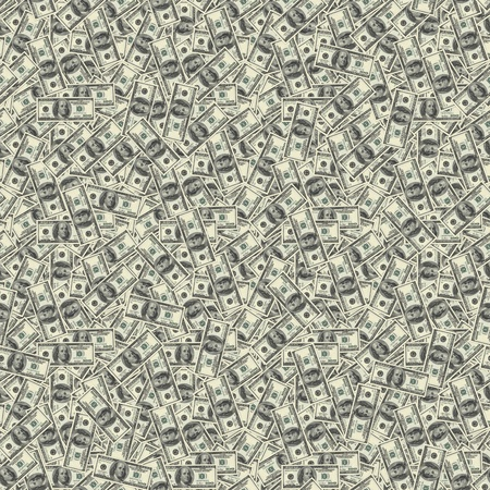Seamless texture of 100 dollar bills photo