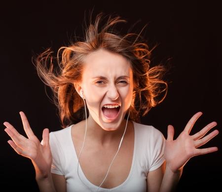 Beautiful Woman Listening Music photo