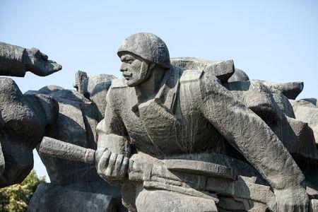 realism: Soviet era WW2 memorial in Kiev Ukraine Editorial