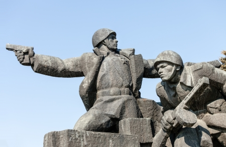 soviet: Soviet era WW2 memorial in Kiev Ukraine Stock Photo