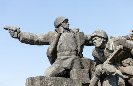 seconda guerra mondiale: Sovietica WW2 monumento a Kiev Ucraina